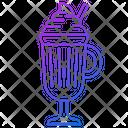 Latte Coffee Glass Icon