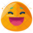 Laugh Emoji Face Icon