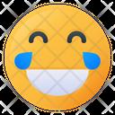 Laugh Face Emoji Icon