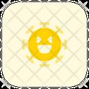 Laughing Coronavirus Emoji Coronavirus Icon