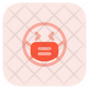 Laughing Emoji With Face Mask Emoji Icon