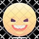 Laughing Grin Emoji Icon