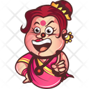 Laughing Aunty Icon