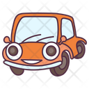Laughing Car Transport Vehicle Icon