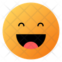 Laughing With Open Mouth Face Emoji Face Icon