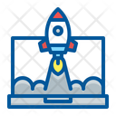 Laptop Launch Project Icon