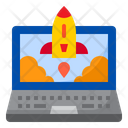 Laptop Rocket Internet Icon