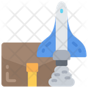 Launch Business Rocket Start Up Icon