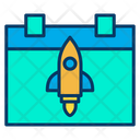 Launch Date Launch Day Launch Schedule Icon