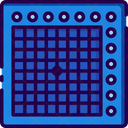 Launch Pad Musical Instrument Music System Icon
