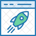 Launch Website Rocket Launch Icon