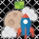 Launching Startup Rocket Launching Icon