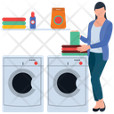 Laundry Washing Clothes Dry Machine Icon
