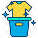 Laundry Cloth Cleaningclean Cloth Bucket Icon