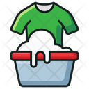 Laundry Washing Clothes Cleaning Icon
