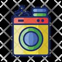 Laundry Washing Machine Washing Icon