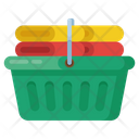 Clean Clothes Washed Clothes Towels Basket Icon