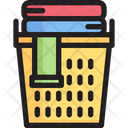 Clothe Basket Laundry Basket Clothes Icon