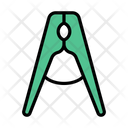Clamp Laundry Clothes Icon