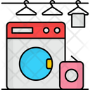 Laundry Room Machine Cloth Delivery Icon