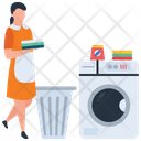 Laundry Service Cleaning Ironing Service Icon
