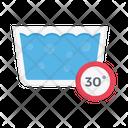 Tub Water Temperature Icon