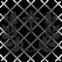 Cross Religion Laurel Icon