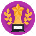 Laurel Wreath Wreath Trophy Honor Trophy Icon