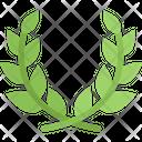 Laurel Wreath Award Certificate Icon