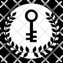 Laurels Winner Key Icon