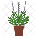 Lavender Potted Plant Icon