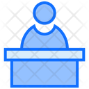 Law Justice Witness Icon