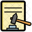 Court Order Law Icon
