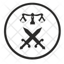 Law Fight Scales Icon