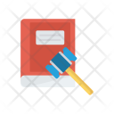 Law Book Hammer Icon