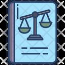 Law Book Book Balance Icon
