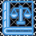 Law Book Constitution Book Justice Book Icon