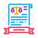 Law Certificate Legal Certificate Activity Icon