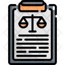 Clipboard Law Justice Icon