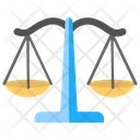 Law Scale Justice Scale Measuring Instrument Icon
