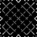 Law Sight Circle Cross Icon