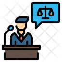 Lawyer Podium Icon