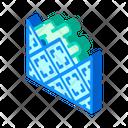 Lay Tiles Isometric Icon