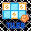 Laying Tiles Tiler Icon