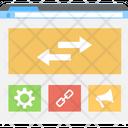 Layout Wireframe Optimized Links Icon