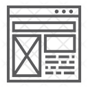 Layout Website Design Icon
