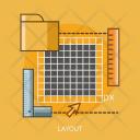 Layout Ruler Size Icon