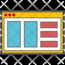Layout Design Website Icon