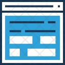 Layout Wireframe Web Icon
