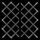 Square Half Half Square Two Parts Icon